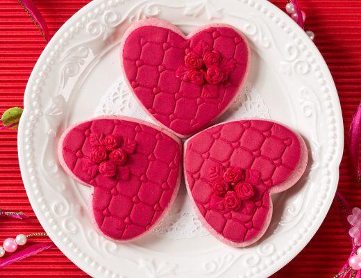 Biscuiti inimioare cherry flavor